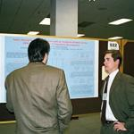 Campbell discussing his poster during the Poster Session