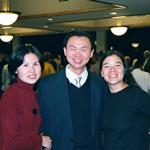 Shuhong (Left) and Mary (Right) with Wei at Awards Banquet