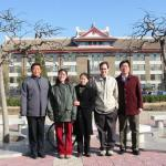 Tianjin University with our host Professor Liu Dongzhi (far left)