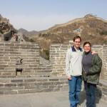 Atop the Great Wall of China North of Beijing with Mary