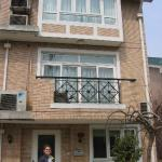 Melissa outside her townhome in Shanghai