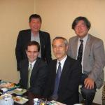 Dinner with (from top left) Professors Mugio Nishizawa, Iho Fukuyama and Motoo Tori in Tokushima