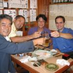 Dinner with faculty from Osaka City University (host Professor Yasufumi Ohfune on far left)