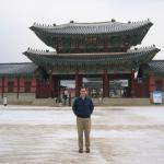 Outside Gyeongbokgung Palace in Seoul