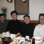 Dinner with (from left to right) Professors Hyeung-geun Park, Sanghee Kim and Seung Bum Park (Seoul National University)