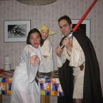 Princess Leia (Mary), Yoda (Harrison) and Luke Skywalker (Rich)