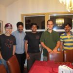 Jun, Raj, Subham, Rich and Mrinmoy