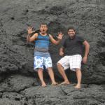 Subham and Raj rock climbing